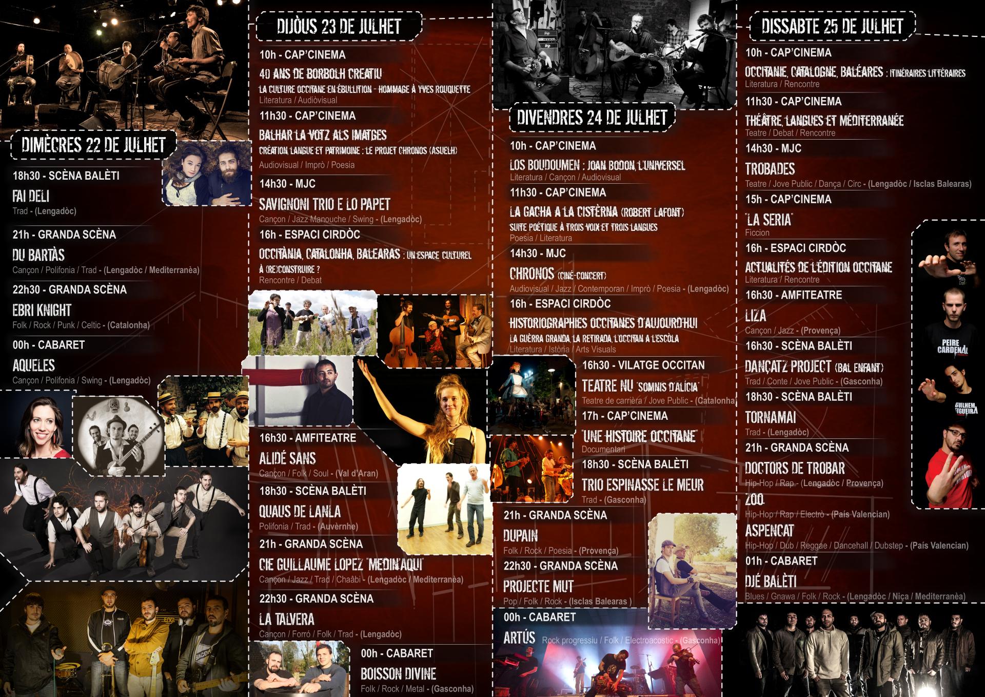 Programme Estivada 2015