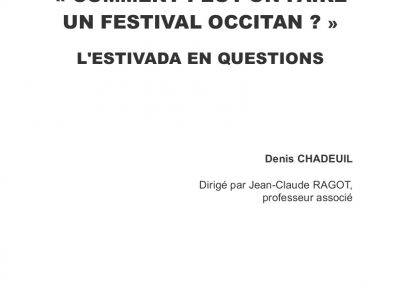 "Mémoire ""Comment peut-on faire un festival occitan ?"""